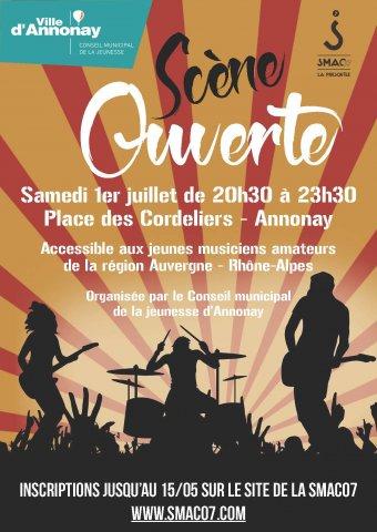 Festi'jeunes : scène musicale ouverte à Annonay
