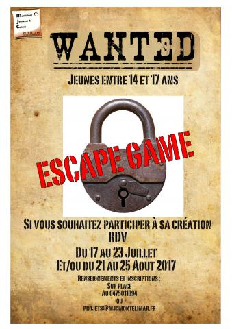 Wanted ! Création d'un Escape Game à Montélimar...