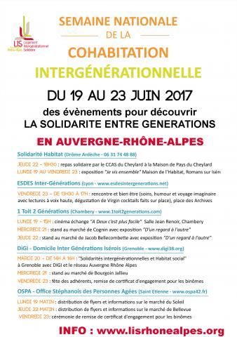 Semaine nationale de la cohabitation intergénérationnelle