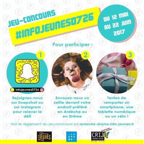 Jeu-concours #infojeunes0726