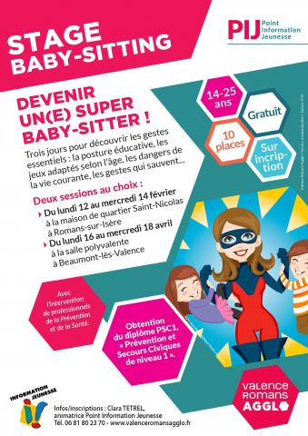 Stage Baby-sitting à Beaumont-lès-Valence
