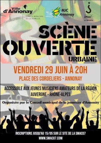 Scène ouverte urbaine à Annonay