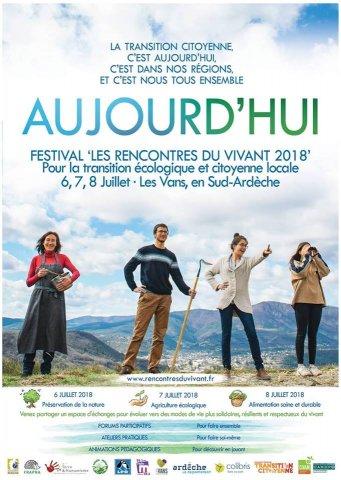 """Festival """" les rencontres du vivant 2018 """" aux Vans"""