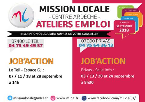 Job'Action les 24 et 28 septembre