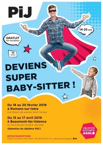 Deviens super babysitter - Du 18 au 20 février à Romans-sur-...