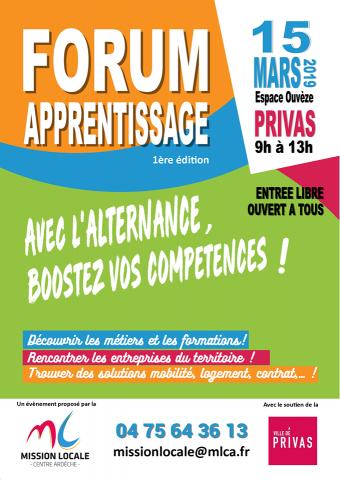Forum alternance et apprentissage à Privas