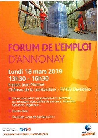 Forum de l'emploi d'Annonay