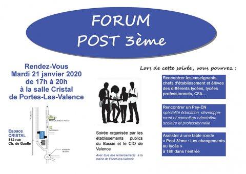 Forum Post 3ème à Portes-Lès-Valence