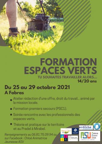 Formation espaces verts - Fabras