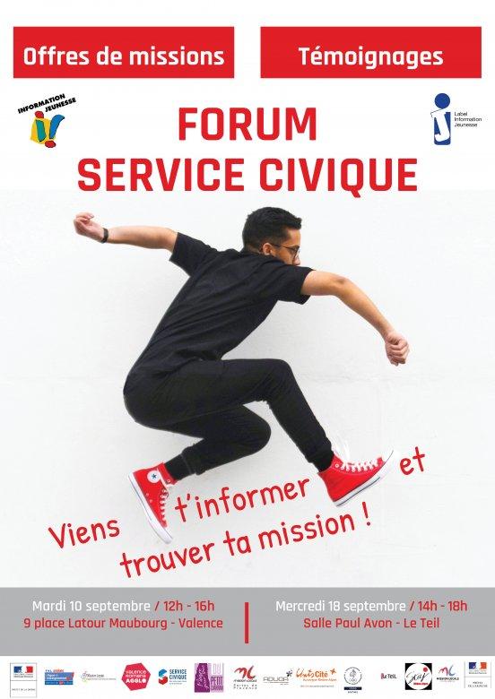 forum service civique  u00e0 valence
